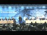 Martine Aubry au Conseil de l'internationale socialiste