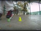 Juju en roller, random V2 (Slalom et sauts)