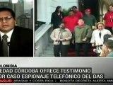 Piedad Córdoba testifica por caso de espionaje telefónico del DAS