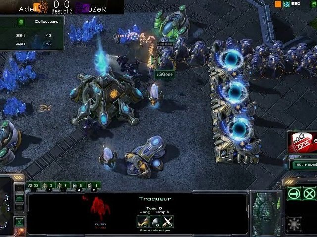Adel vs TuZer 1/3 - Starcraft 2 - Quart eOSL Winter '10
