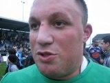Rugby - Reaction de Marc Clerc après USB - Mâcon
