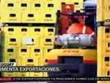 Uruguay aumenta exportaciones