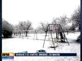 Neige : les images des témoins BFMTV