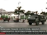 Protestas por fraude electoral provocan enfrentamientos entr
