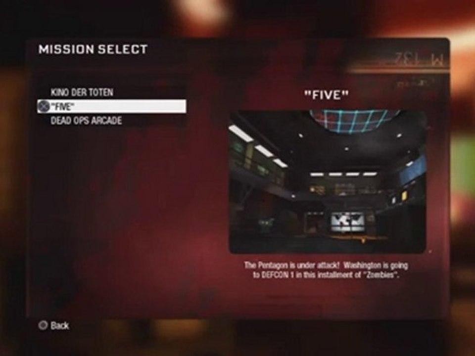 Black Ops How To Unlock Five Zombie Map Pentagon Video