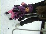 ses 1er pas ds la neige