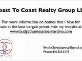 Bargain properties in San Bernardino California