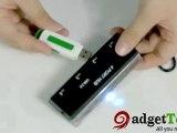 C00945-4 Port Black Hi-speed USB 2.0 Hub with Graduated Scal