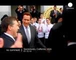 California Governor Arnold Schwarzenegger... - no comment