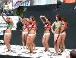 Beach volleyball bikini cheerleaders!