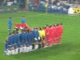 Hymne national Suisse lors de Suisse-Angleterre