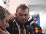 Les réactions d'apres match Castres USAP DEC 2010