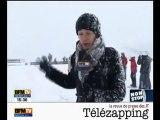 Télézapping  : La neige engloutit la Tour Eiffel