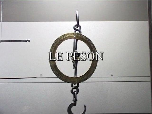 Le peson : son fonctionnement