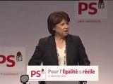 Convention égalité réelle: le discours de Martine Aubry