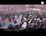 Football fans clashes with Moscow riot police - no comment