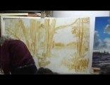 Démonstration de peinture à l'huile par Marcel Mussely