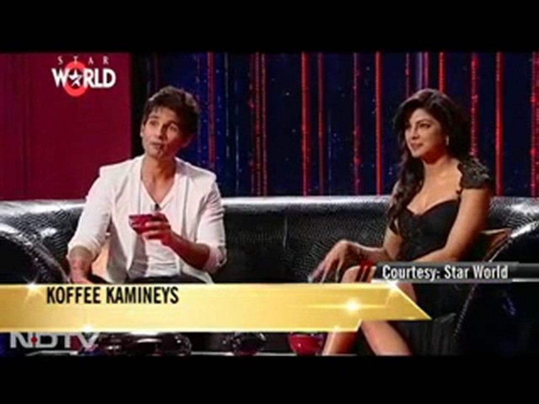 Shahid-Priyanka get naughty over Koffee