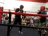 Kickboxing Houston - Muay Thai Sparring - Craig and Jordan
