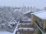 Neige à Mantes la jolie