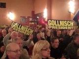 Bruno Gollnisch, arrivée au meeting lyonnais FN