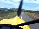 Atterrissage ULM par Jean-Claude, Nakutakoin, Nouv-Calédonie