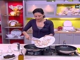 choumicha recette pastilla crevettes et poulet aux fruits de mer et champignon noirs chinois
