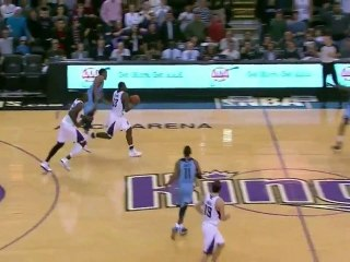 Tyreke Evans amazing halfcourt game winner vs Grizzlies