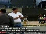 Venezuela: Simpatizantes de la oposición acompañan inicio de trabajo del Parlamento
