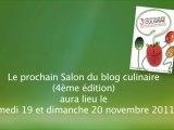 Salon du blog culinaire 3 - A l'année prochaine