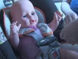 Rear-Facing Infant Seats : How do I secure my infant in a rear-facing child safety seat?