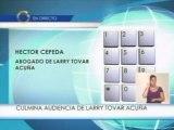 Héctor Cepeda abogado de Larry Tovar Acuña