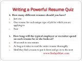 How to write a powerful resume part 2- Write a powerful res