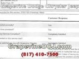 Grapevine TX Chrysler Jeep Dodge Complaints