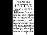 Lettres Portugaises, texte du XVIIe siècle, auteur anonyme