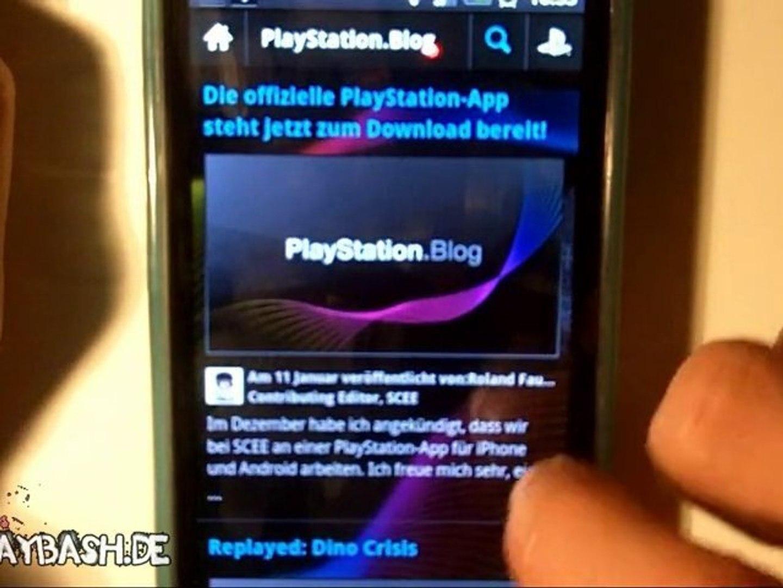 Die PSN App für Android/iOS - video dailymotion