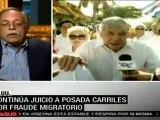 Continúa juicio a Posada Carriles por fraude migratorio