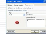 Excel: La Validation - valider l'entré des données