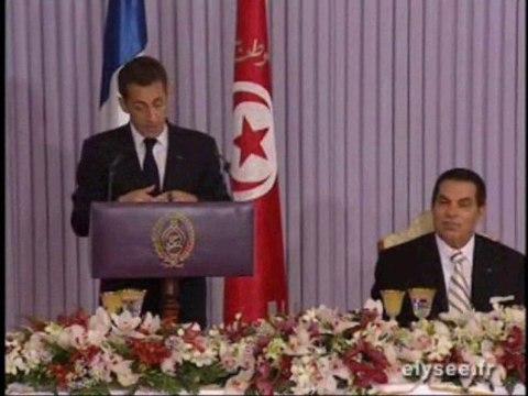 """Sarkozy et le """"bonheur personnel"""" de Ben Ali..."""