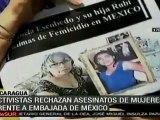 Protestan en Nicaragua por asesinatos de activistas mexicanas