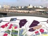 Le site olympique de Londres prend forme
