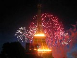 Feu d'artifice Tour Eiffel le 14 juillet 2009 Part 5