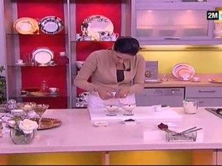 Mahalabiya aux amandes et au chocolat