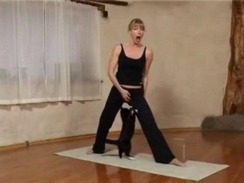 Katze will beim Yoga mitmachen