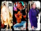 ma tante melinda  qui chante avec son cousin et cecilia