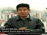 Reynaldo Molina asegura que ONU comete errores con la hoja de coca