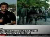Se anuncia rueda de prensa a las 15 horas del dictador Duvalier