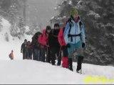 Artıyaşam Ilgaz-Kadınçayırı rotasında yapılan kar yürüyüşü