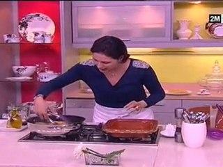 tajine recette au poulet de veau la fève courgette ronde choumicha 2011