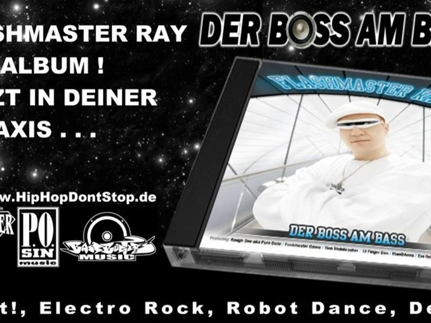 Flashmaster Ray -Der Boss am Bass- Hip Hop ALBUM (Official Video Snippet)